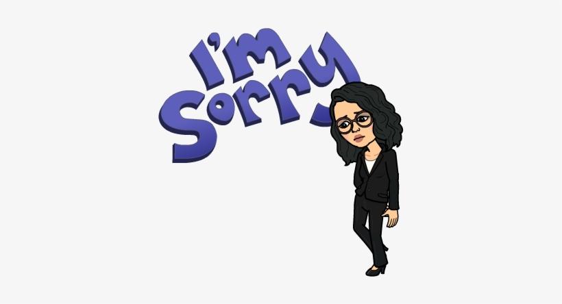 Im Sorry Bitmoji.