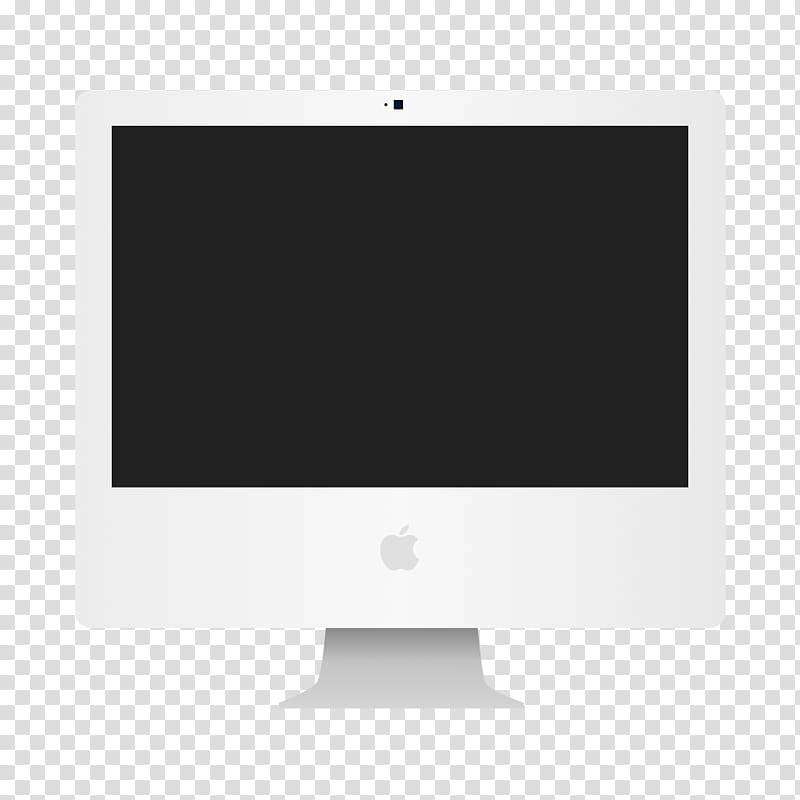 Flat Apple Device Icons and ICNS , iMac G transparent.