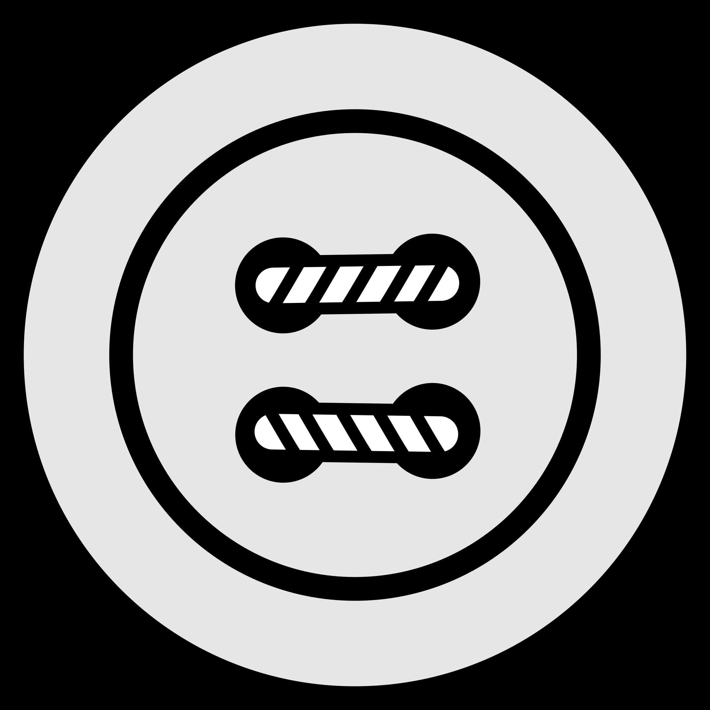 Button Clipart Black And White.