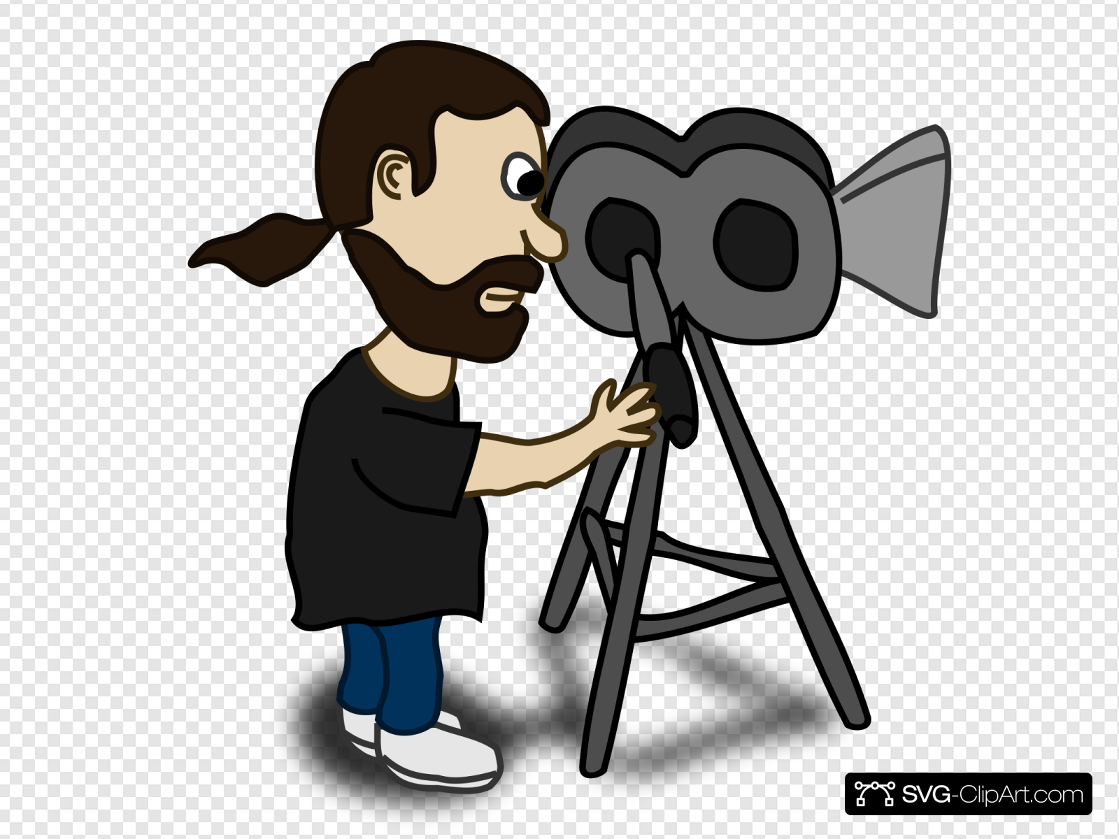 Comic Character Film Maker Clip art, Icon and SVG.