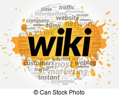 Stock Illustrations of Wiki background concept.
