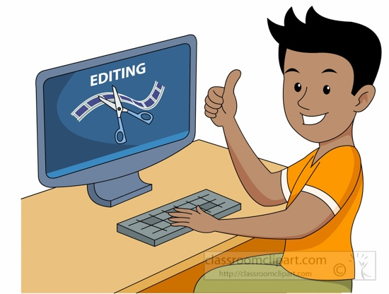 Computer image editing class clipart.