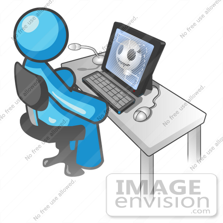 image envision clipart sky blue guy characters work at computers #7