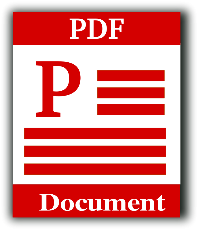 Free Clipart: Portable Document Format Icon.