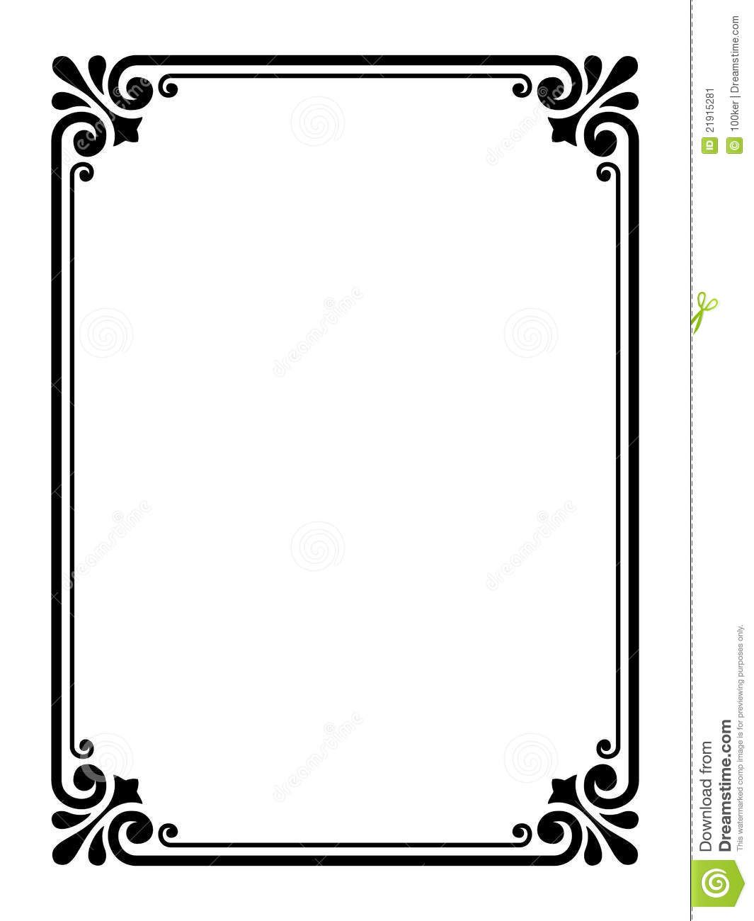 Simple Frame Clipart.