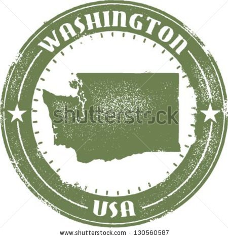 Pacific Northwest Map Stock Photos, Royalty.