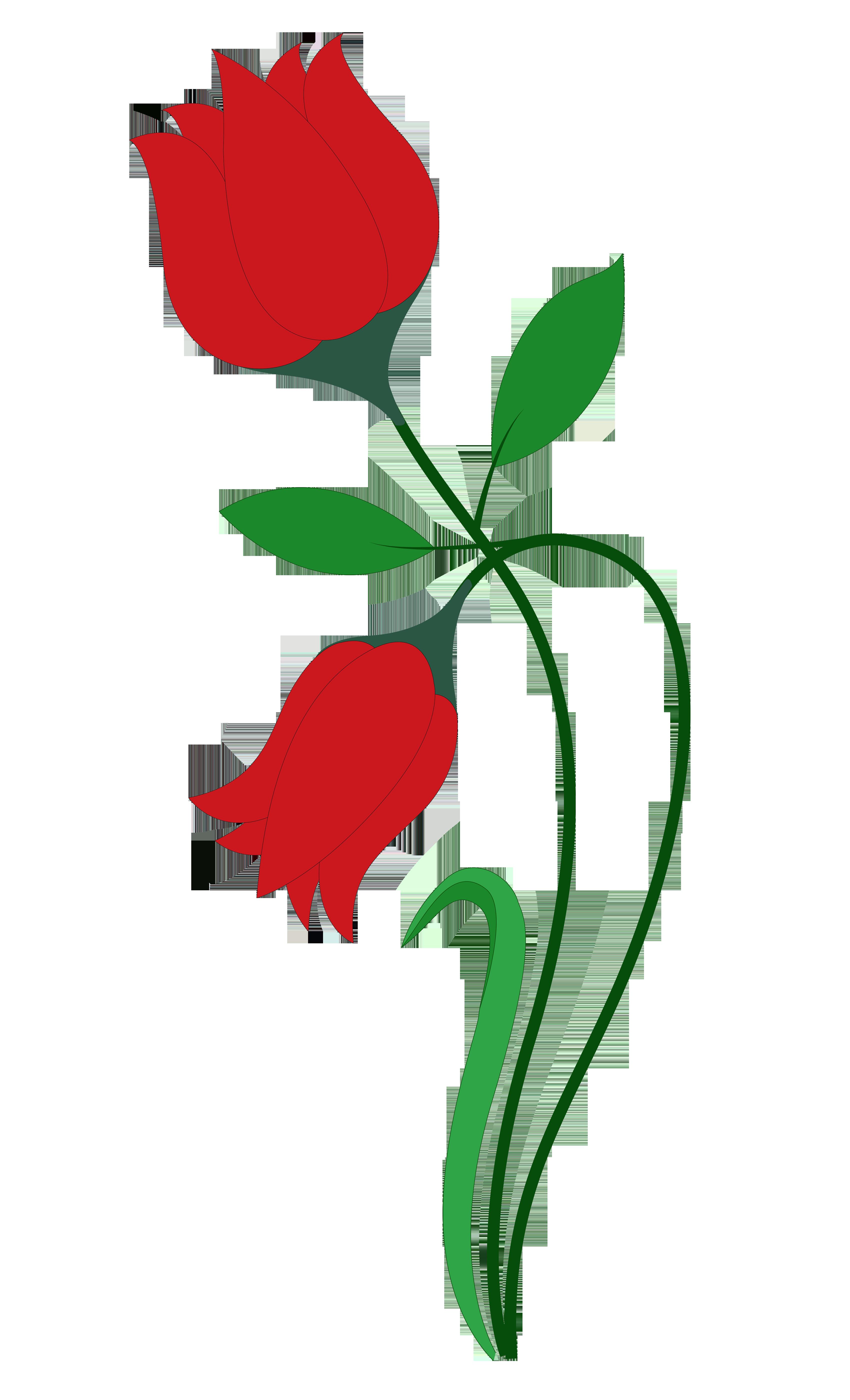 Red Rose Flower Vector Png Transparent I #19431.