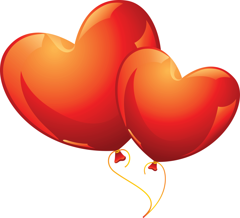 Heart Balloon transparent PNG.