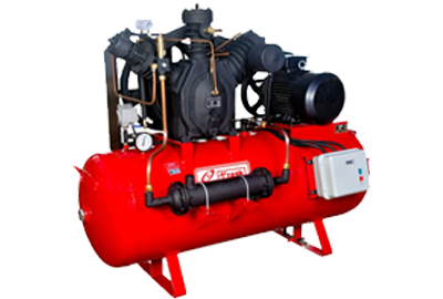 Two stage air compressor.