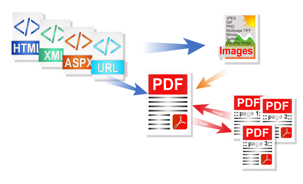 Generate PDF from HTML and Image in ASP.Net, C#, VB .Net.