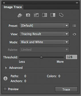 Working with Image Trace in Adobe Illustrator CS6 > Begin Tracing.
