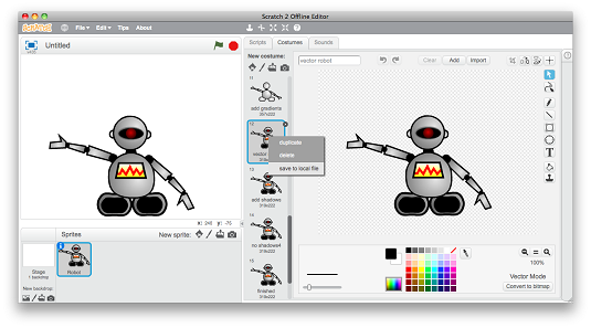 How to Export Scratch Graphics to Other Applications.