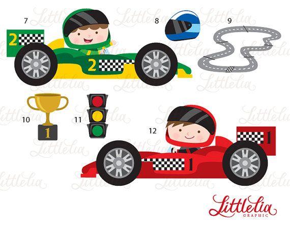 Carrera coches imágenes prediseñadas.