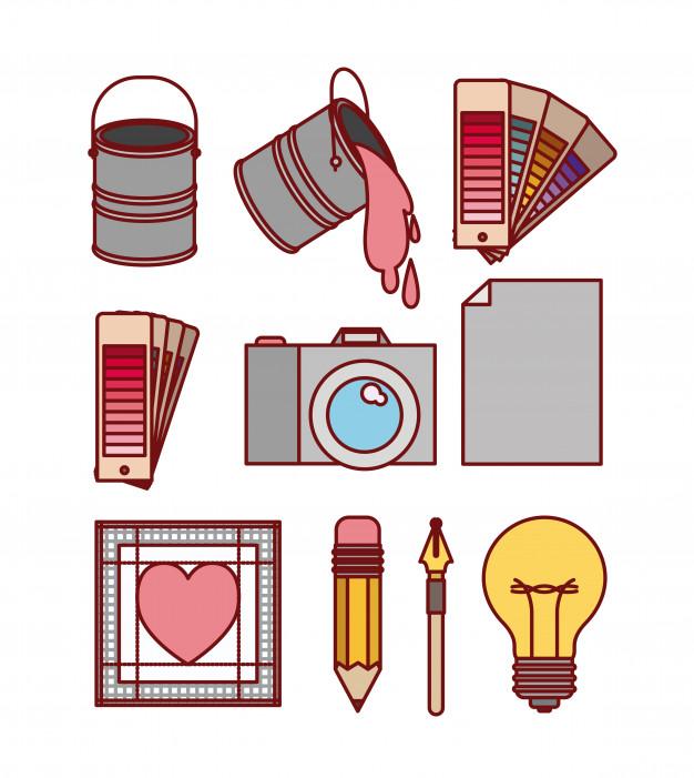 Establecer elementos de trabajo para diseño gráfico.