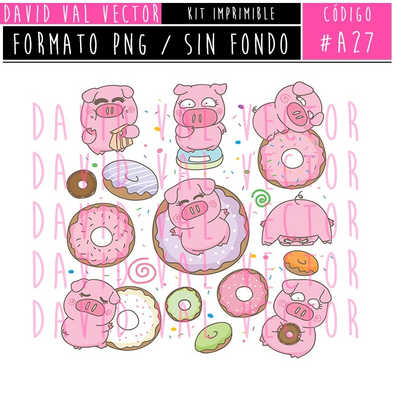 Kit Imprimible Animales Granja Candy Bar Clipart #a27.