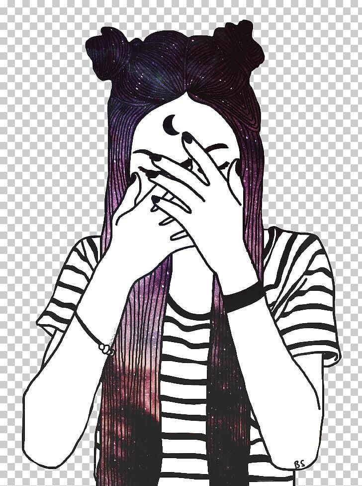 Blog de dibujo de escritorio redes sociales, dibujo de chicas PNG.