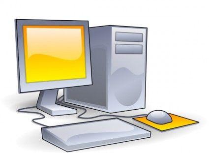 Computadora de escritorio clipart.