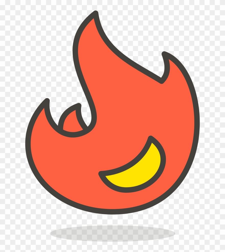 Transparent Color Emoji Fire Art Transparent Color.