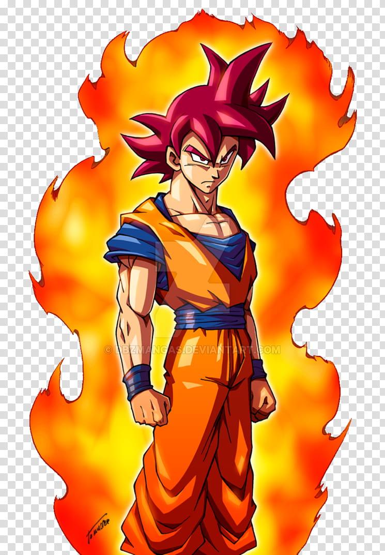 Dios SSJ Goku transparent background PNG clipart.