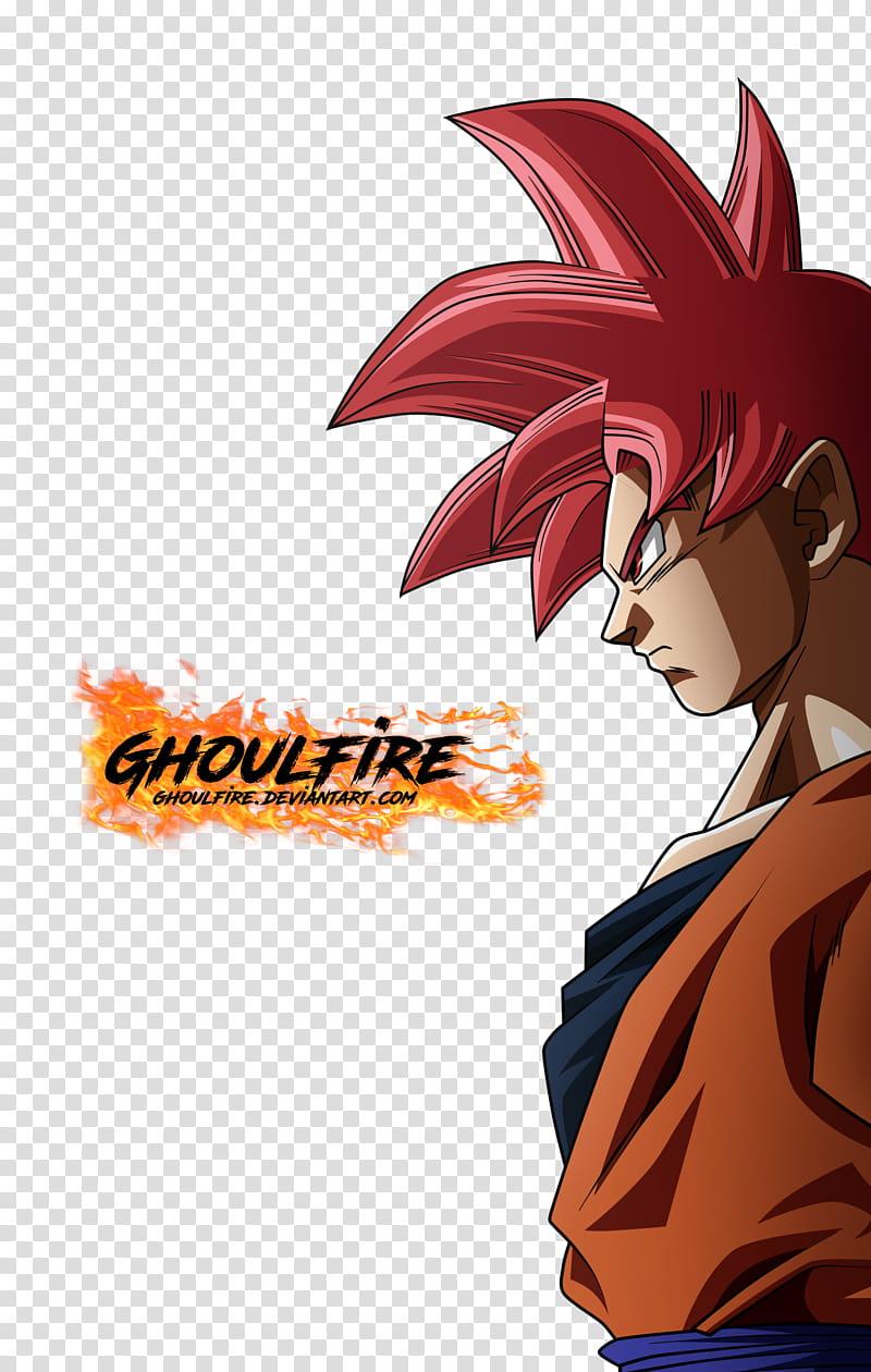 Goku Ssj Dios, Goku from Dragon Ball with text overlay.