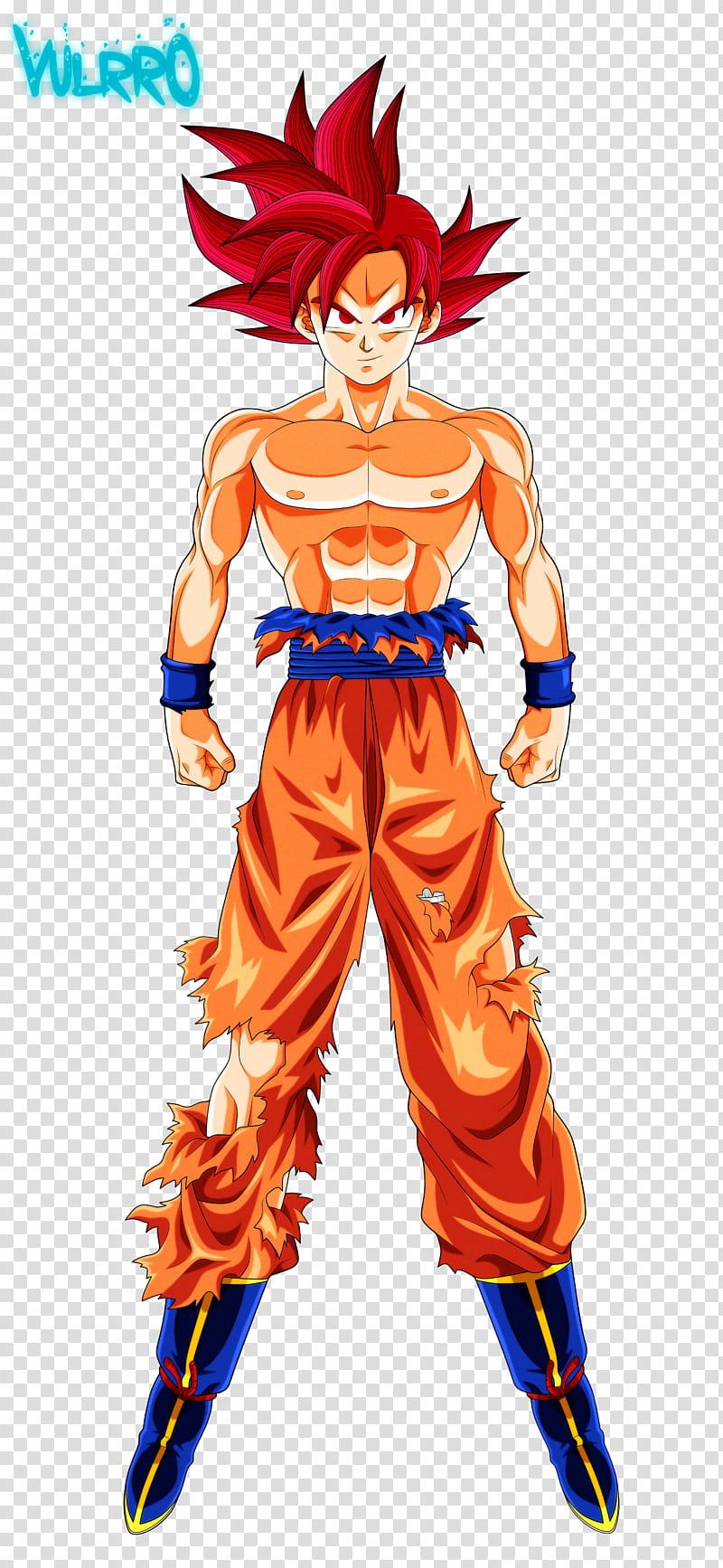 Goku Super Saiyajin Dios transparent background PNG clipart.