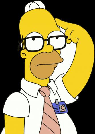 Homer Simpson Pensando Png.