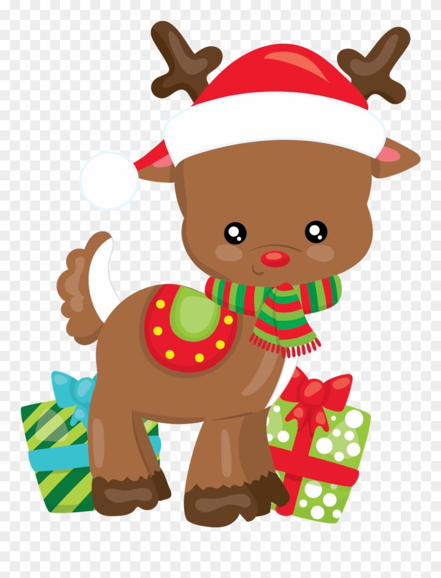 Reno Navidad, Dibujos Animados, Navidad Clipart, Tarjetas.