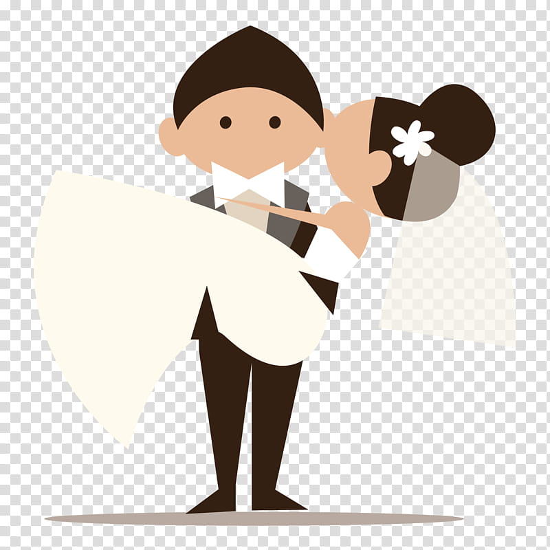 Es de novios, married couple illustration transparent.