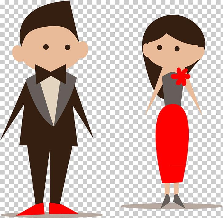 Bridesmaid Wedding invitation Icon, Cartoon bride and groom.