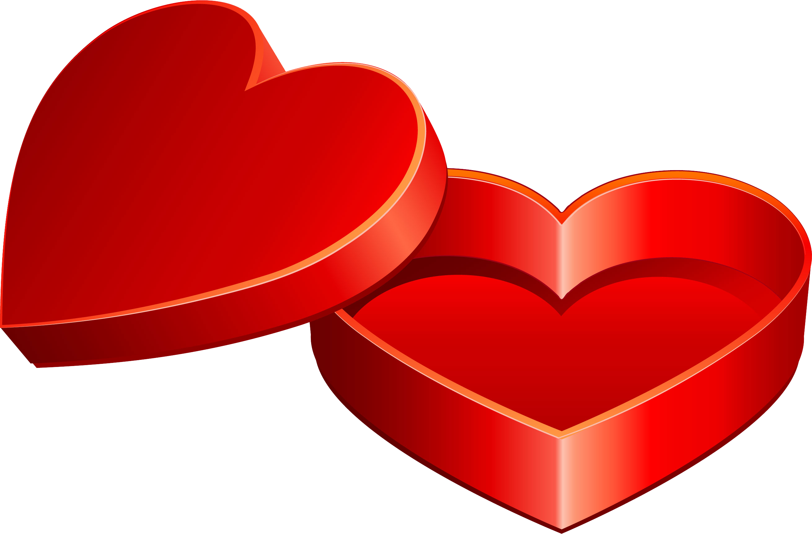 Valentine\'s Day Heart Love Gift Clip Art.