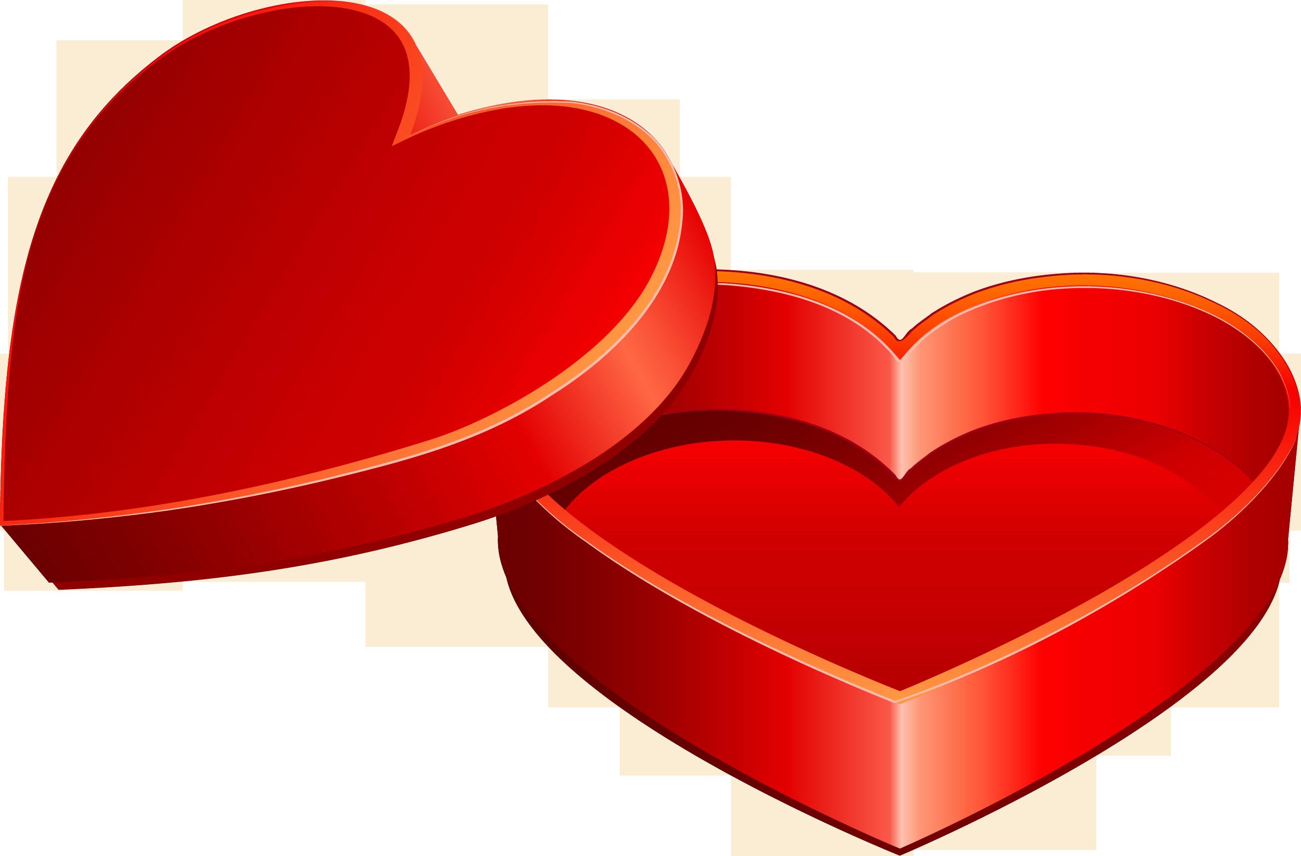 Valentine\'s Day Heart Love Gift Clip Art.