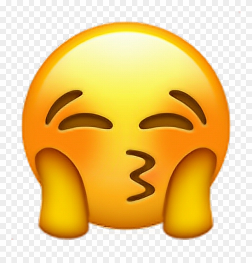 Emoji Blush Love Kiss Kiss Emoji.