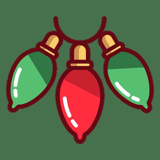 Icono de luces de navidad.