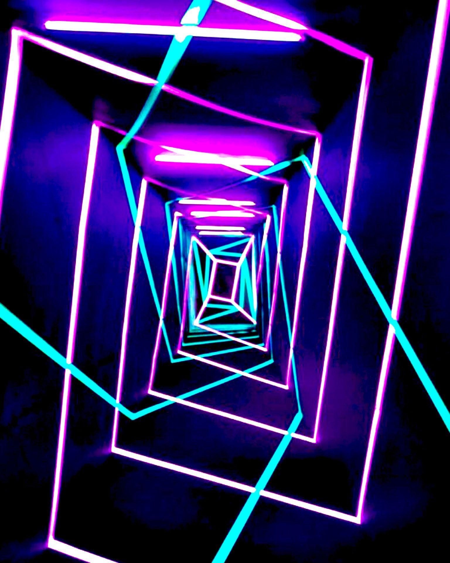 Neon Tunnel (2017) by Kitsch Nitsch. Neon Tunnel is an art.