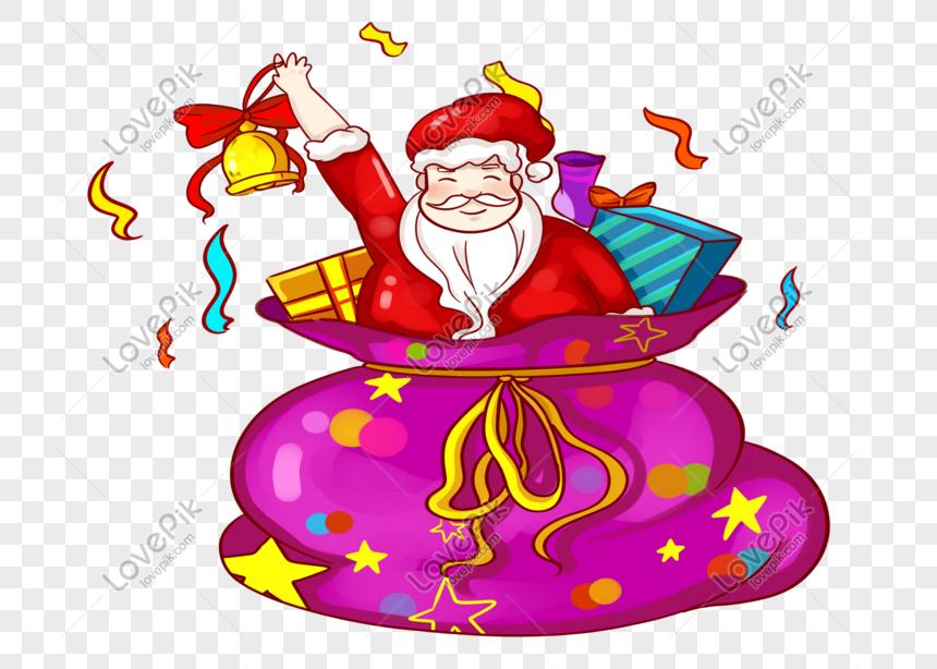 material de navidad papá noel regalo png Imagen Descargar_PRF.