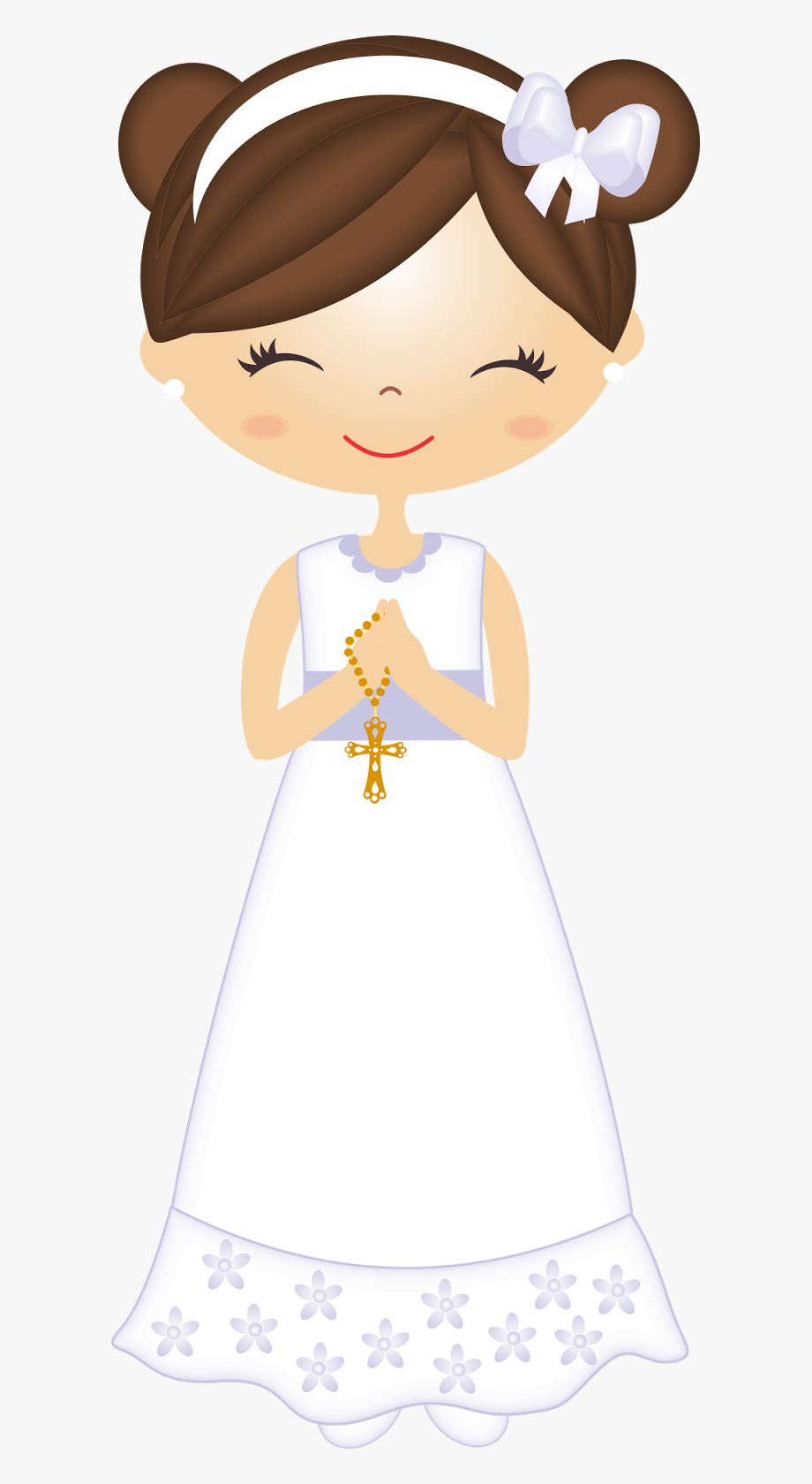 Doll Clipart First Communion.