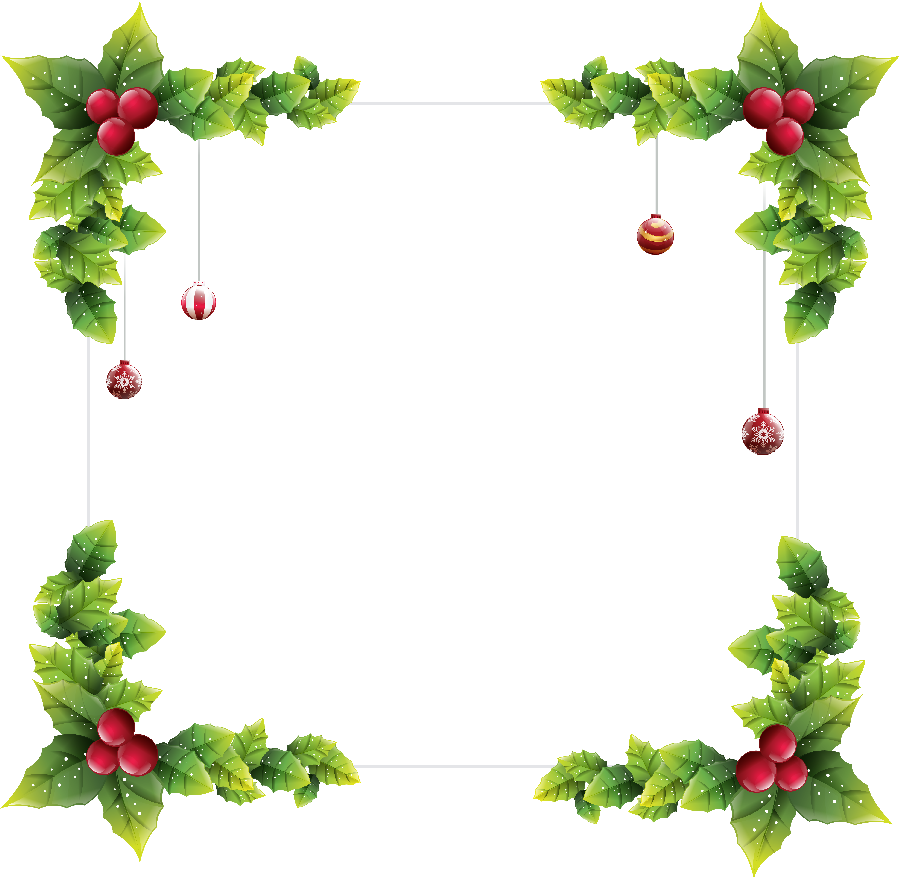 Christmas Border Decor Png Clipart.