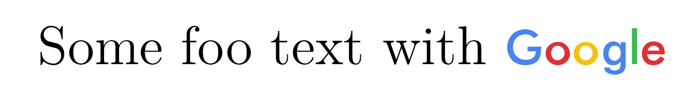 Writing Google logo in LaTeX.