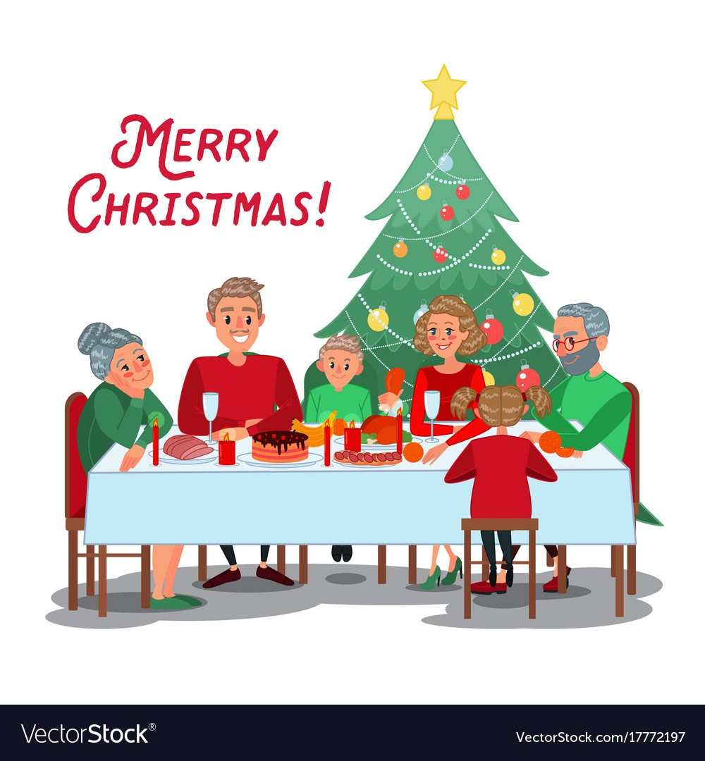 Family christmas dinner clipart » Clipart Portal.