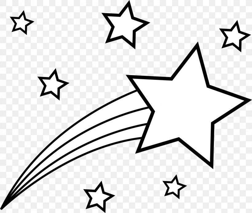 Coloring Book Star Shooting Clip Art, PNG, 1600x1355px.