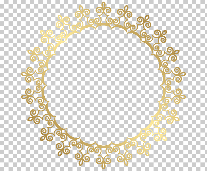 Gold , Gold Border Frame HD, round gold wrought frame PNG.