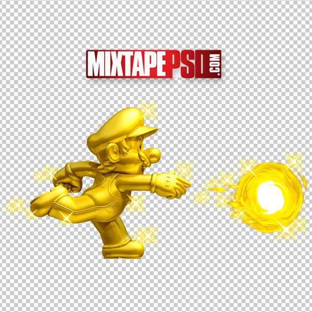 HD Golden Mario PNG Cut.
