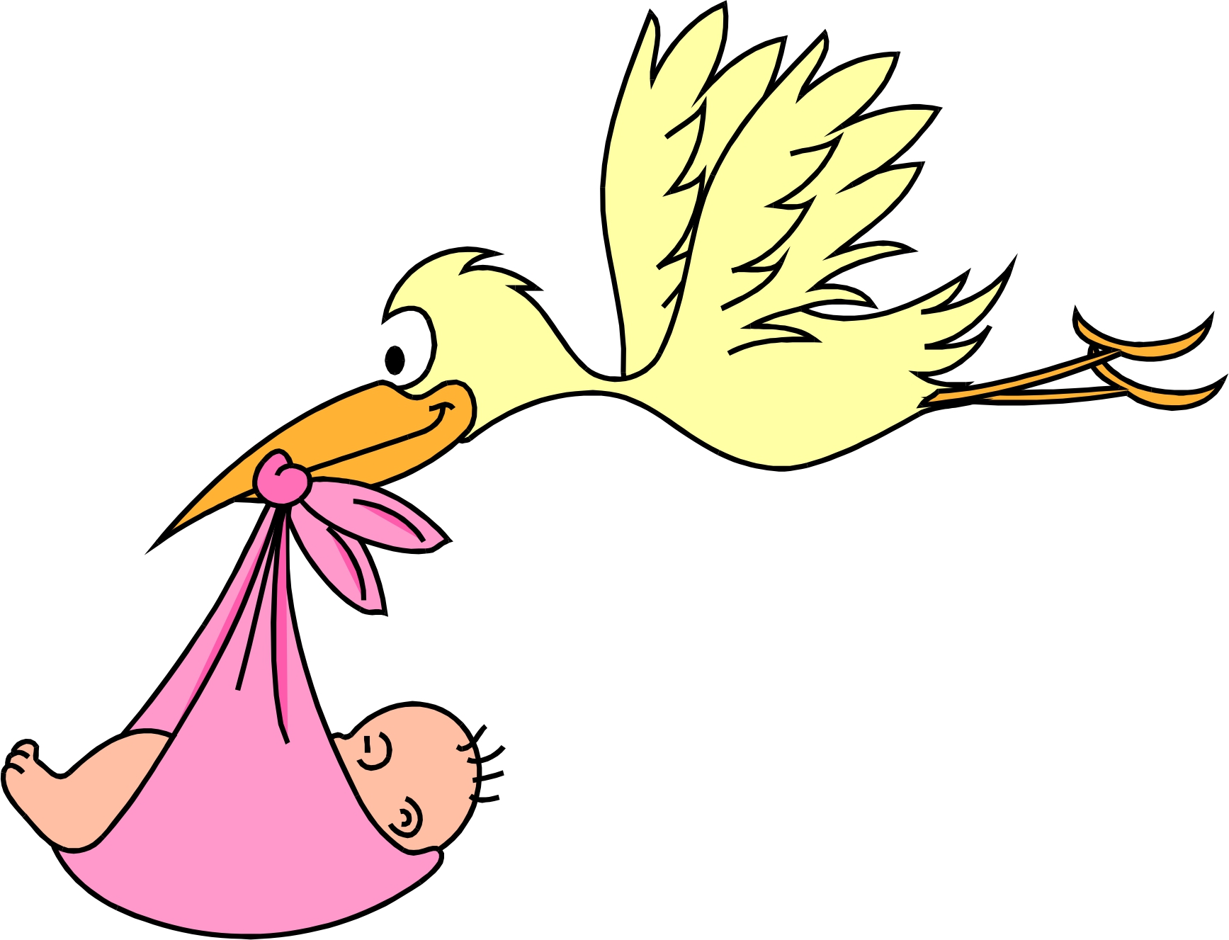 Free Baby Clipart Stork Image.