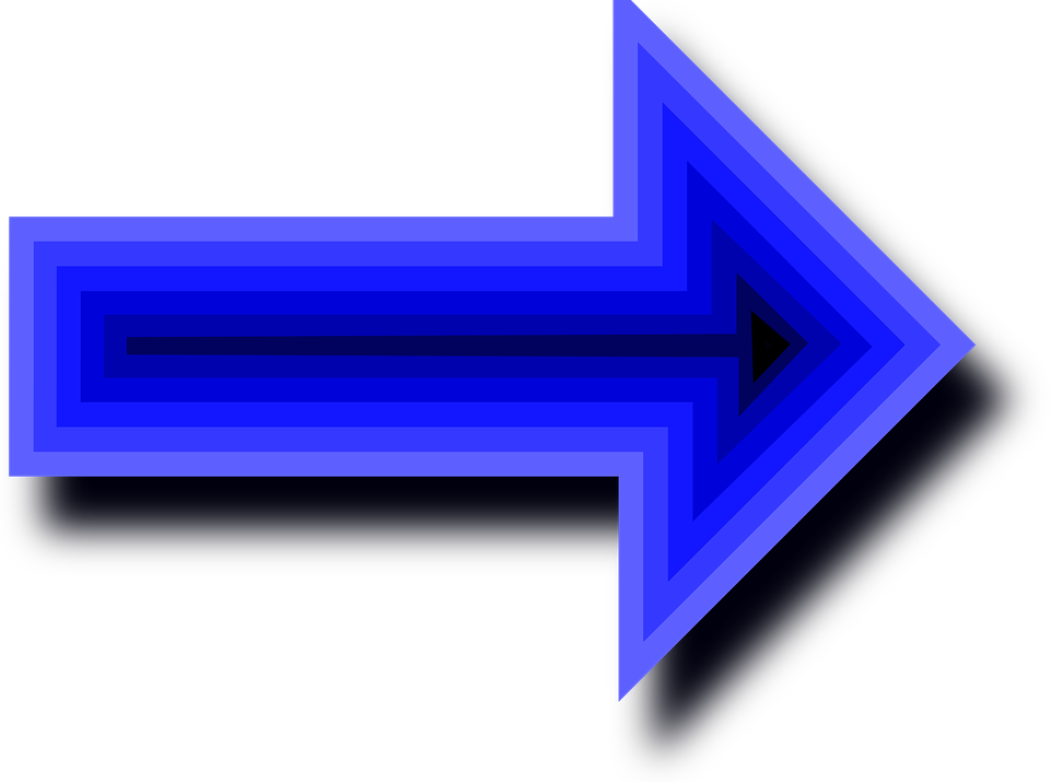 Free vector graphic: Arrows, Blue, Right, Pointing.