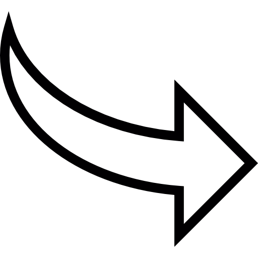 Curved Arrow pointing to right.