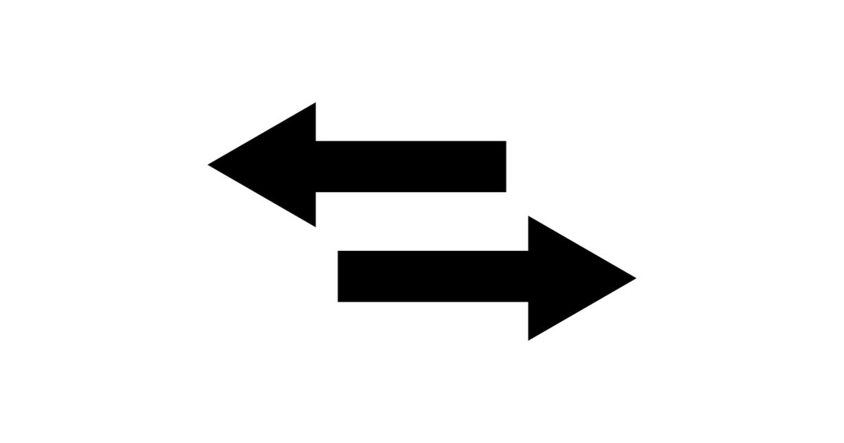 Two arrows pointing right and left.