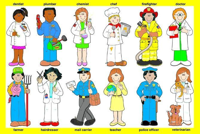 School Helpers Clipart.