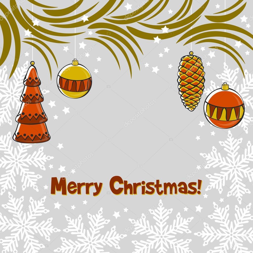 Christmas ornament background — Stock Vector © Elena.