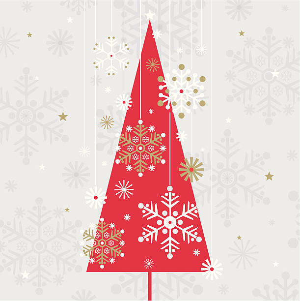 Christmas Balls On Abstract Light Grey Background Clip Art, Vector.