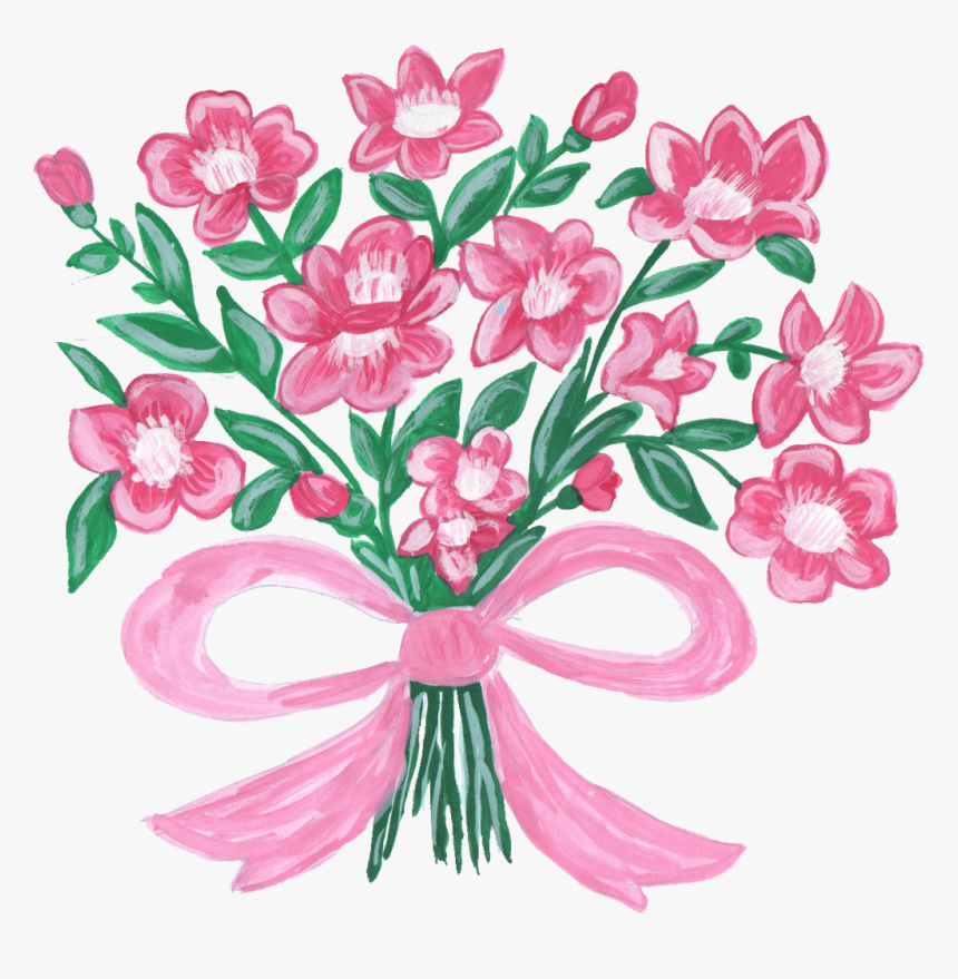 Transparent Flower Bouquet Clipart.